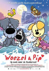 Affiche Woezel en Pip op zoek naar de sloddervos