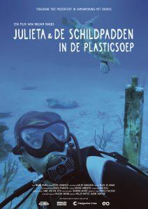 Poster Julieta & de schildpadden in de plastic soep